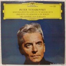 Discos de vinilo: TCHAIKOVSKY - SINFONIA PATETICA (LP DEUTSCHE GRAMMOPHON 1973 ESPAÑA) KARAJAN. Lote 87014960