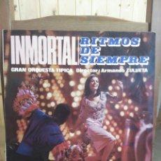 Discos de vinilo: INMORTAL. RITMOS DE SIEMPRE. ORQUESTA DE ARMANDO ZULUETA 1966. Lote 87016278