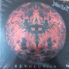 Discos de vinilo: JUDAS PRIEST-REVOLUTION 2 TRACKS PROMO PICTURE 2005 VERY RARE!! PICTURE DISC. Lote 87031184