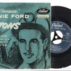 Discos de vinilo: SIXTEEN TONS (16 TONELADAS) – ERNIE FORD – EL SINGLE MÁS EXITOSO JAMÁS GRABADO. Lote 87031644