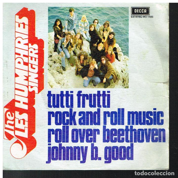 THE LES HUMPHRIES SINGERS ?– TUTTI FRUTTI / ROCK AND ROLL MUSIC / ROLL OVER BEETHOVEN +1 - EP 1975 (Música - Discos de Vinilo - EPs - Pop - Rock Extranjero de los 70)