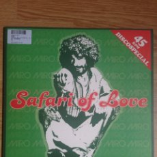 Discos de vinilo: MIRO - SAFARI OF LOVE NUEVO!. Lote 87054039