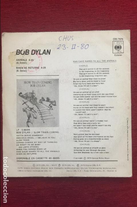 Discos de vinilo: BOB DYLAN. ANIMALS. AÑO 1979 - Foto 2 - 87057800