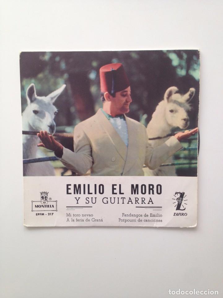 EMILIO EL MORO : Y SU GUITARA/MI TORO NEVAO+3/ZAFIRO (Música - Discos de Vinilo - EPs - Solistas Españoles de los 70 a la actualidad)