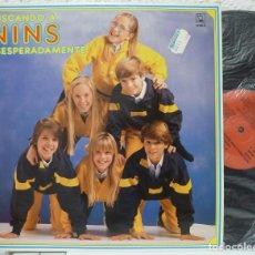 Discos de vinilo: GRUPO NINS - BUSCANDO A NINS DESESPERADAMENTE (LP HORUS 1985) BOLA DE CRISTAL · DISEÑO MANOLO GARCIA. Lote 87078144