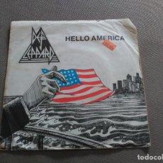 Discos de vinilo: SINGLE DEF LEPPARD - HELLO AMERICA - VERTIGO UK 1980 G/VG+. Lote 87770651