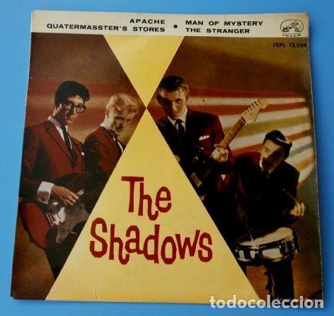 THE SHADOWS (EP. 1961) APACHE - MAN OF MYSTERY - THE STRANGER (Música - Discos de Vinilo - EPs - Pop - Rock Internacional de los 50 y 60)