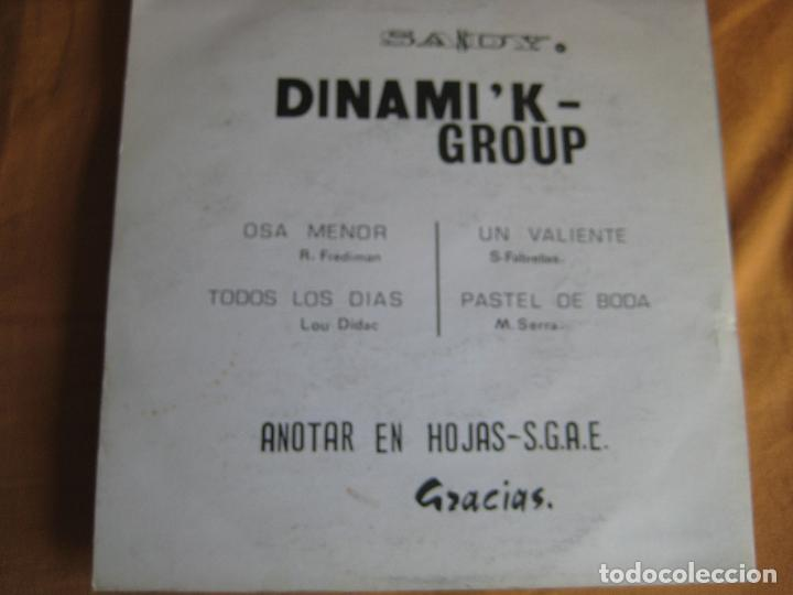 Discos de vinilo: DINAMIK GROUP EP SANDIEGO 1976 osa menor/ todos los dias +2 INSTRUMENTALES GROOVE SOUL - Foto 2 - 87094644