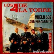 Discos de vinilo: LOS 4 DE LA TORRE (EP. 1966) VUELO 502 - III FESTIVAL CANCION DE MALLORCA. Lote 87097256