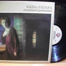 Discos de vinilo: NACHA GUEVARA - SUS PRIMERAS GRABACIONES LP PROMOCIONAL RARO EDITADO POR WARNER EN 1977 PEPETO. Lote 87097432
