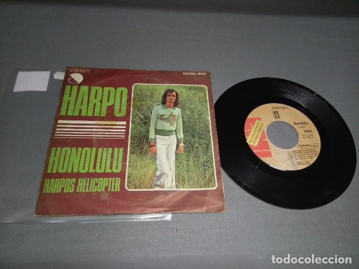 1018- HARPO-HONOLULU -PROMOCIONAL ( VIN 7 MAXI SINGLE) PORTADA VG + / DISCO VG + (Música - Discos - Singles Vinilo - Otros estilos)