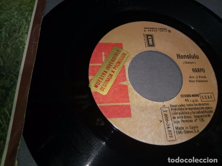 Discos de vinilo: 1018- HARPO-HONOLULU -PROMOCIONAL ( VIN 7 MAXI SINGLE) PORTADA VG + / DISCO VG + - Foto 2 - 87152448