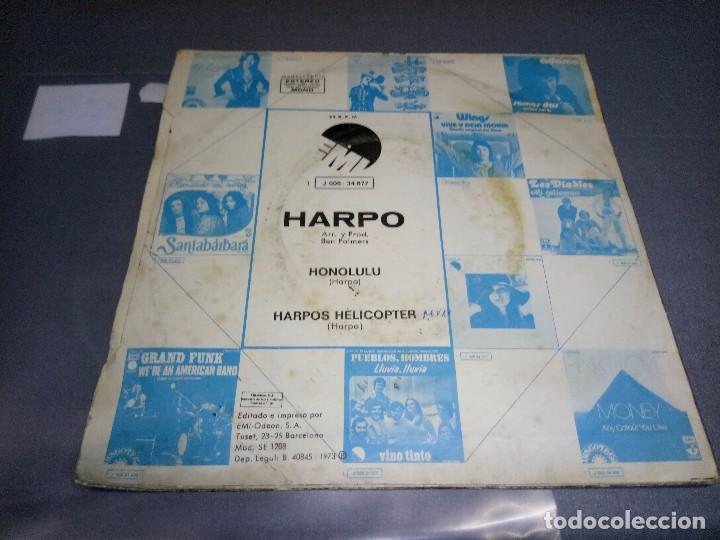 Discos de vinilo: 1018- HARPO-HONOLULU -PROMOCIONAL ( VIN 7 MAXI SINGLE) PORTADA VG + / DISCO VG + - Foto 3 - 87152448