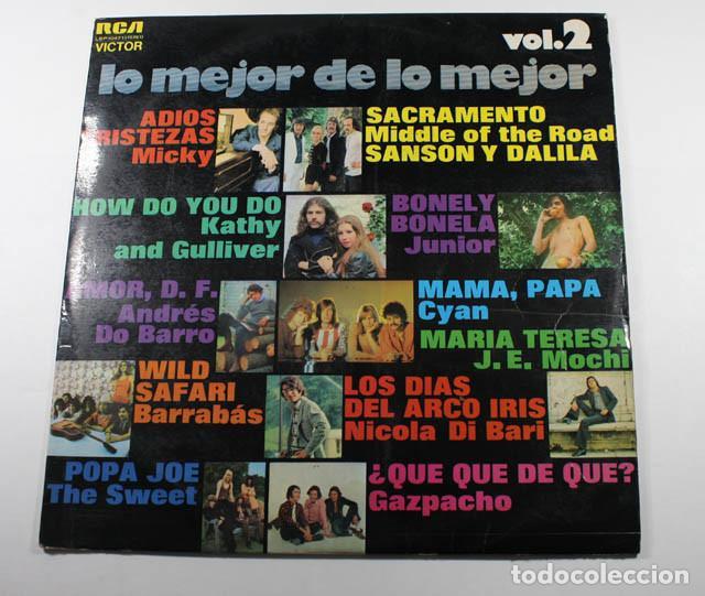 LP LO MEJOR DE LO MEJOR VOL 2, MICKY, JUNIOR, SWEET, BARRABAS, DO BARRO, DI BARI, MIDDLE OF THE ROAD (Música - Discos - LP Vinilo - Solistas Españoles de los 70 a la actualidad)