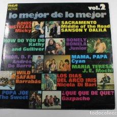 Discos de vinilo: LP LO MEJOR DE LO MEJOR VOL 2, MICKY, JUNIOR, SWEET, BARRABAS, DO BARRO, DI BARI, MIDDLE OF THE ROAD. Lote 87155256