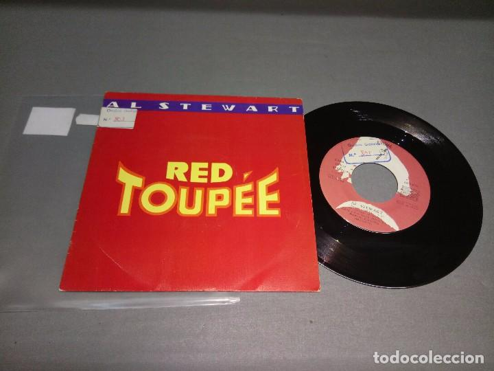 1018- AL STEWART -RED TOUPEE (PROMO)( ( VIN 7 MAXI ) PORTADA VG +/++ / DISCO VG +/++ (Música - Discos - Singles Vinilo - Otros estilos)
