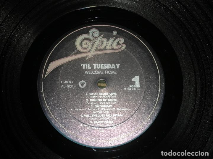 Discos de vinilo: TIL TUESDAY -WELCOME HOME LP - ORIGINAL U.S.A. - EPIC 1986 CON FUNDA INT. ORIGINAL - - Foto 12 - 87155632