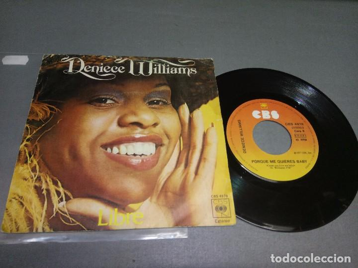 1018- DENIECE WILLIAMS -LIBRE ( VIN 7 MAXI ) PORTADA VG + / DISCO VG +/++ (Música - Discos - Singles Vinilo - Otros estilos)