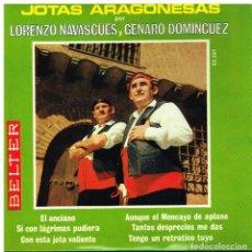 Discos de vinilo: LORENZO NAVASCUES / GENARO DOMINGUEZ - JOTAS ARAGONESAS - EP 1969. Lote 87160408