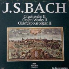 Discos de vinilo: J.S.BACH,JOHANN SEBASTIAN.OBRAS PARA ÓRGANO,ORGAN WORKS II.HELMUT WALCHA.CAJA ESPAÑA 8 LPS + LIBRETO. Lote 87160596
