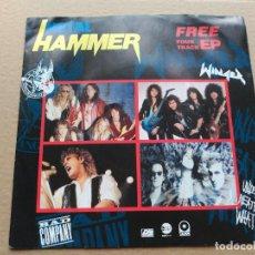 Discos de vinilo: EP PROMO VARIOUS - METAL HAMMER FREE FOUR TRACK EP - UK 1990 VG+. Lote 87178192