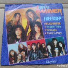 Discos de vinilo: EP VARIOUS - METAL HAMMER FREE FOUR TRACK EP - UK 1990 VG+. Lote 87178720