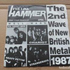 Discos de vinilo: EP VARIOUS - THE 2ND WAVE OF NEW BRITISH METAL 1987 - METAL HAMMER UK VG/VG+. Lote 87179296