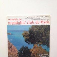 Discos de vinilo: ENSEMBLE DU MANDOLIN+3 .MANDOLIN CLUB DE PARIS .ORCHEST:EP /FRANCE. Lote 87180740