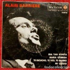 Disques de vinyle: ALAIN BARRIERRE (EP. 1963) ERA TAN BONITA - ELLE ETAIT SI JOLIE - MARIA QUERIDA - MI CEREZO -. Lote 87186128