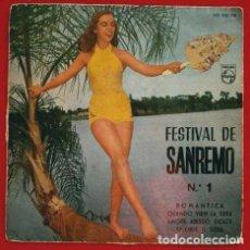 Discos de vinilo: FESTIVAL DE SANREMO 1960 (EP.1960) ROMANTICA (ARTURO TESTA) - QUANDO VIEN LA SERA. Lote 87189244