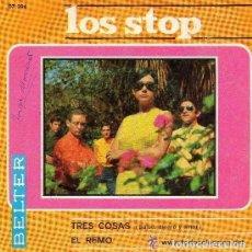 Discos de vinilo: LOS STOP, TRES COSAS (SALUD, DINERO Y AMOR), SINGLE BELTER SPAIN 1967. Lote 87191152