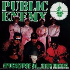Discos de vinilo: PUBLIC ENEMY – APOCALYPSE 91.. THE ENEMY STRIKES BLACK- 2X DOBLE LP VINYL 1991 SPAIN. Lote 147020662