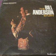Discos de vinilo: LP- BILL ANDERSON STORY DECCA 7198 DOBLE CON HOJA INCLUIDA USA 196???? COUNTRY. Lote 87212408