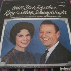 Discos de vinilo: LP- KITTY WELLS & JOHNNY WRIGHT WE´LL STICK TOGETHER DECCA 75026 USA 196???? COUNTRY. Lote 87212628