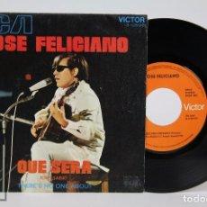 Discos de vinilo: DISCO SINGLE DE VINILO - JOSÉ FELICIANO. QUÉ SERÁ - RCA, 1971. Lote 87229456