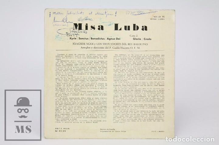 Discos de vinilo: Disco Single de Vinilo - Misa Luba. Kyrie / Sanctus... - Philips, 1962 - Foto 3 - 87230736