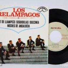 Discos de vinilo: DISCO EP DE VINILO - LOS RELÁMPAGOS. NIT DE LLAMPECS / SEGUIDILLAS - ZAFIRO, 1965. Lote 87231276