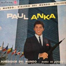 Discos de vinilo: PAUL ANKA , EP, ALREDEDOR DEL MUNDO + 3, AÑO 1963. Lote 87241520