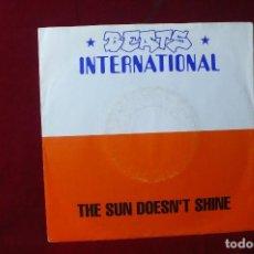 Discos de vinilo: BEATS INTERNATIONAL / THE SUN DOESN'T SHINE / WAKE THE DEAD / 1991, ALEMANIA.. Lote 87257436
