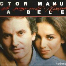 Discos de vinilo: LP VICTOR MANUEL & ANA BELEN : SOLO PIENSO EN TI - AGAPIMU Y OTROS GRANDES EXITOS . Lote 87258136