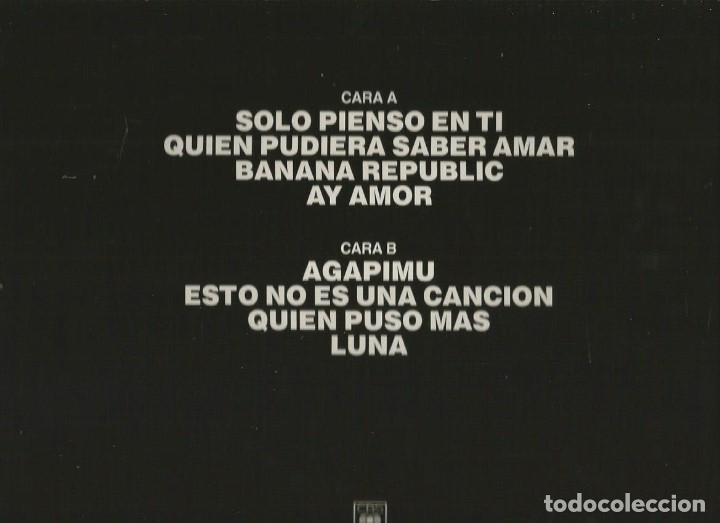 Discos de vinilo: LP VICTOR MANUEL & ANA BELEN : SOLO PIENSO EN TI - AGAPIMU Y OTROS GRANDES EXITOS - Foto 2 - 87258136