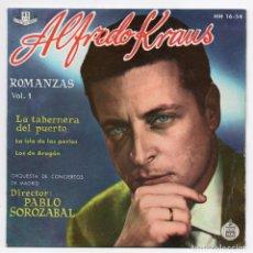 Discos de vinilo: DISCO EP 45 RPM - ALFREDO KRAUS (HISPAVOX HH 16-54). Lote 87261044