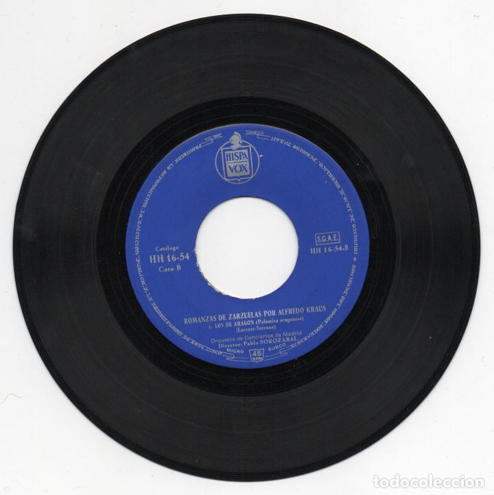 Discos de vinilo: DISCO EP 45 RPM - ALFREDO KRAUS (HISPAVOX HH 16-54) - Foto 2 - 87261044