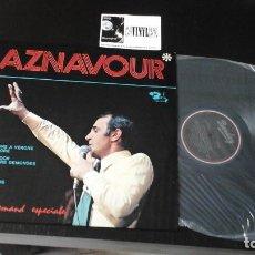 Discos de vinilo: ?CHARLES AZNAVOUR ?– A LA DEMAND ESPECIALE LP: BARCLAY ?– 104.8011 EDICIÓN BRASIL . Lote 87261212