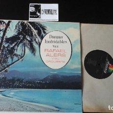 Discos de vinilo: ?RAFAEL ALERS Y SU ORQUESTA - DANZAS INOLVIDABLES VOL 4 LP ANSONIA EDICIÓN PUERTO RICO. Lote 87277100