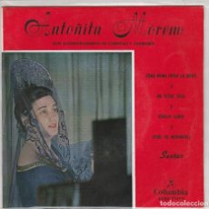 Discos de vinilo: ANTOÑITA MORENO (SAETAS) EP 1960. Lote 227873495
