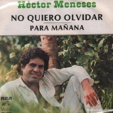 Discos de vinilo: HECTOR MENESES - NO QUIERO OLVIDAR / PARA MAÑANA / SINGLE RCA DE 1979 RF-2463, BUEN ESTADO. Lote 87285864
