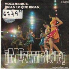 Disques de vinyle: ORQUESTA DE CARLOS ARAGON - MOZAMBIQUE / DIGAN LO QUE DIGAN (SINGLE ESPAÑOL, SINTONIA 1969). Lote 87295892