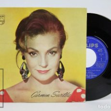 Discos de vinilo: DISCO SINGLE DE VINILO - CARMEN SEVILLA. FLAMENCA YE-YÉ - PUBLICIDAD / CATÁLOGO PHILIPS - 1965. Lote 87301696