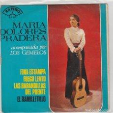 Disques de vinyle: MARIA DOLORES PRADERA / FINA ESTAMPA + 3 (EP 1965). Lote 87309304